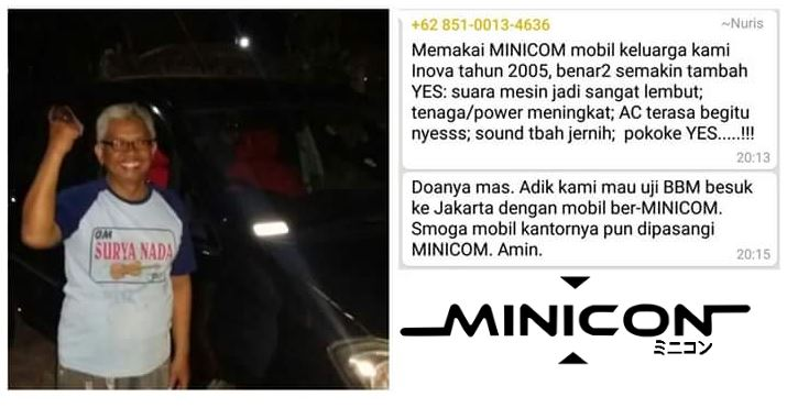 testimoni pemakaian minicon